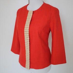COLDWATER CREEK Size 8 Coral Blazer Jacket